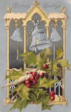xms001779 - Christmas Post Card Old Vintage Antique Xmas Postcard