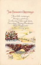 xms001785 - Christmas Post Card Old Vintage Antique Xmas Postcard