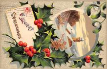 xms001787 - Christmas Post Card Old Vintage Antique Xmas Postcard