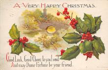 xms001795 - Christmas Post Card Old Vintage Antique Xmas Postcard