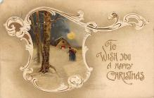 xms001799 - Christmas Post Card Old Vintage Antique Xmas Postcard