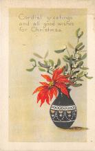 xms001803 - Christmas Post Card Old Vintage Antique Xmas Postcard