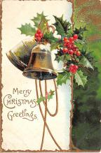 xms001809 - Christmas Post Card Old Vintage Antique Xmas Postcard