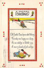 xms001811 - Christmas Post Card Old Vintage Antique Xmas Postcard