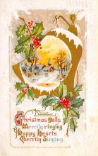 xms001815 - Christmas Post Card Old Vintage Antique Xmas Postcard