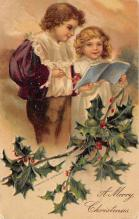 xms001821 - Christmas Post Card Old Vintage Antique Xmas Postcard