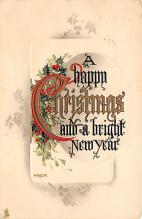 xms001823 - Christmas Post Card Old Vintage Antique Xmas Postcard
