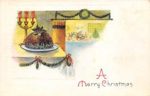 xms001825 - Christmas Post Card Old Vintage Antique Xmas Postcard