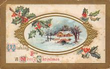 xms001827 - Christmas Post Card Old Vintage Antique Xmas Postcard