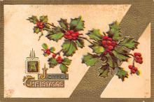 xms001829 - Christmas Post Card Old Vintage Antique Xmas Postcard