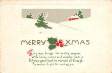 xms001831 - Christmas Post Card Old Vintage Antique Xmas Postcard