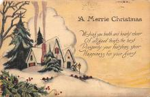 xms001837 - Christmas Post Card Old Vintage Antique Xmas Postcard