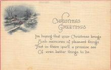 xms001839 - Christmas Post Card Old Vintage Antique Xmas Postcard