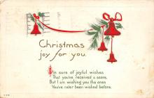 xms001841 - Christmas Post Card Old Vintage Antique Xmas Postcard