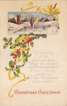 xms001847 - Christmas Post Card Old Vintage Antique Xmas Postcard