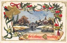 xms001849 - Christmas Post Card Old Vintage Antique Xmas Postcard
