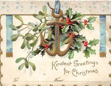 xms001851 - Christmas Post Card Old Vintage Antique Xmas Postcard