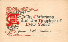 xms001853 - Christmas Post Card Old Vintage Antique Xmas Postcard