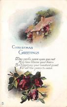 xms001857 - Christmas Post Card Old Vintage Antique Xmas Postcard