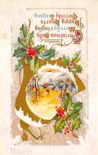 xms001861 - Christmas Post Card Old Vintage Antique Xmas Postcard