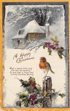 xms001863 - Christmas Post Card Old Vintage Antique Xmas Postcard