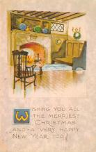 xms001865 - Christmas Post Card Old Vintage Antique Xmas Postcard