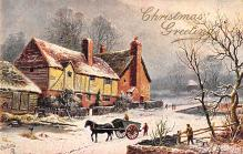 xms001869 - Christmas Post Card Old Vintage Antique Xmas Postcard