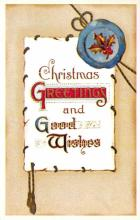 xms001873 - Christmas Post Card Old Vintage Antique Xmas Postcard