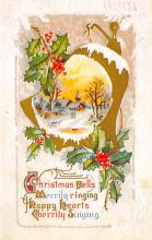 xms001877 - Christmas Post Card Old Vintage Antique Xmas Postcard