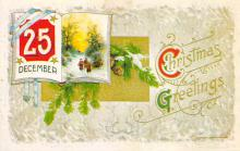 xms001883 - Christmas Post Card Old Vintage Antique Xmas Postcard