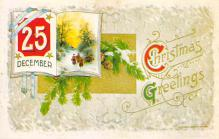 xms001885 - Christmas Post Card Old Vintage Antique Xmas Postcard