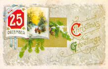 xms001887 - Christmas Post Card Old Vintage Antique Xmas Postcard