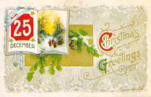 xms001891 - Christmas Post Card Old Vintage Antique Xmas Postcard