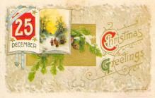 xms001895 - Christmas Post Card Old Vintage Antique Xmas Postcard
