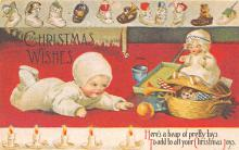 xms001899 - Christmas Post Card Old Vintage Antique Xmas Postcard