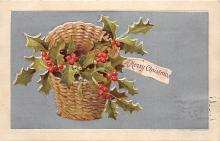 xms001903 - Christmas Post Card Old Vintage Antique Xmas Postcard