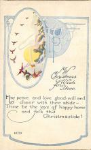 xms001907 - Christmas Post Card Old Vintage Antique Xmas Postcard