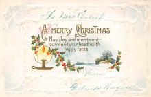 xms001909 - Christmas Post Card Old Vintage Antique Xmas Postcard