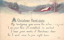 xms001911 - Christmas Post Card Old Vintage Antique Xmas Postcard