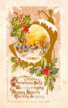 xms001917 - Christmas Post Card Old Vintage Antique Xmas Postcard