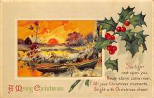 xms001925 - Christmas Post Card Old Vintage Antique Xmas Postcard