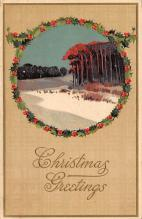 xms001927 - Christmas Post Card Old Vintage Antique Xmas Postcard