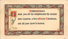 xms001929 - Christmas Post Card Old Vintage Antique Xmas Postcard