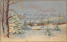 xms001939 - Christmas Post Card Old Vintage Antique Xmas Postcard