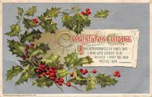 xms001941 - Christmas Post Card Old Vintage Antique Xmas Postcard