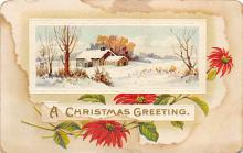 xms001943 - Christmas Post Card Old Vintage Antique Xmas Postcard