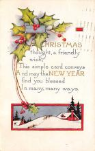 xms001945 - Christmas Post Card Old Vintage Antique Xmas Postcard