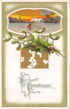 xms001949 - Christmas Post Card Old Vintage Antique Xmas Postcard