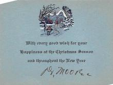 xms001951 - Christmas Post Card Old Vintage Antique Xmas Postcard