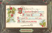 xms001953 - Christmas Post Card Old Vintage Antique Xmas Postcard